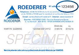 carte tiers payant roederer